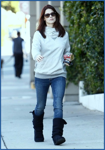Mid Calf Boots With Jeans