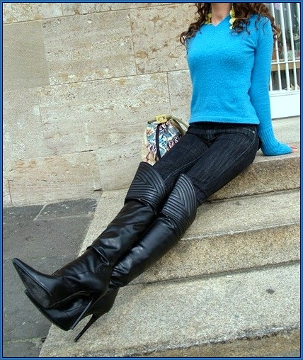 Over The Knee Boots With Jeans