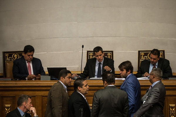 Guaidó says he was aware of contacts between the governments of Venezuela and the US