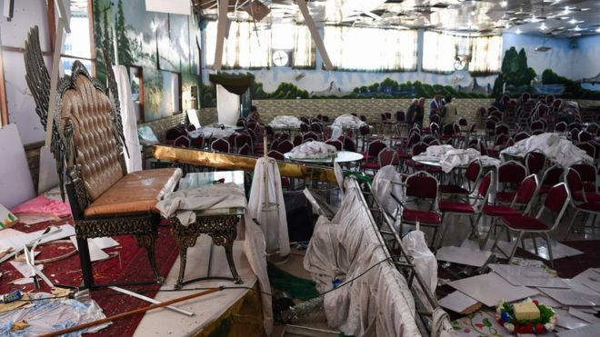 Islamic State in Afghanistan claims the attack on the wedding hall in Kabul