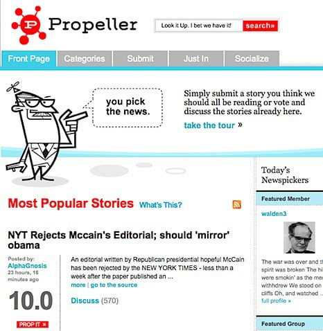 Netscape's Digg clone to re-launch as Propeller