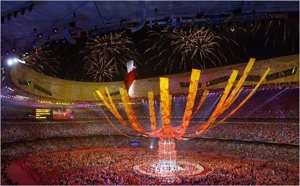 Olympics Close With a Bang and a Double-Decker Bus