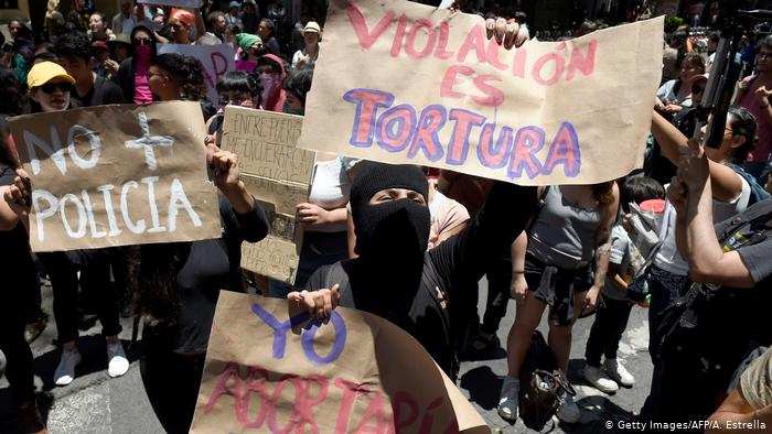 Riots in Mexico City following a protest against sexual abuse by the Police