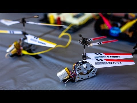 Robot helicopter toys with own tricks