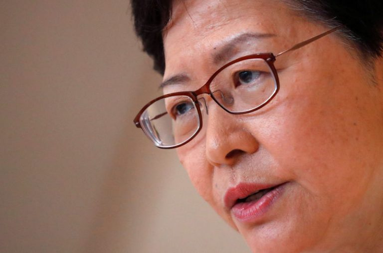 The leader of Hong Kong says that the increase in violence in protests becomes more serious