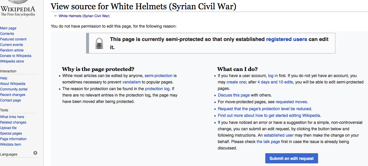 Wikipedia edit blackout for Qatar