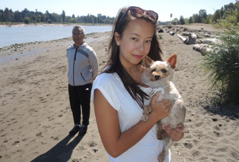 Woman and dog mauled on beach