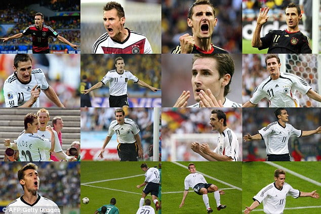 50 Great World Cup moments: Miroslav Klose's record-breaking 16 goals – 2014