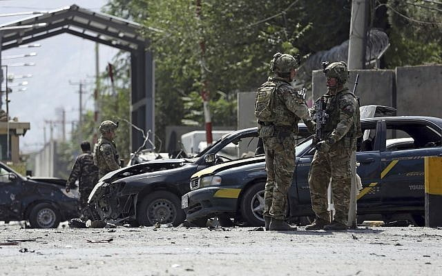 A bomb van explodes in the center of Kabul