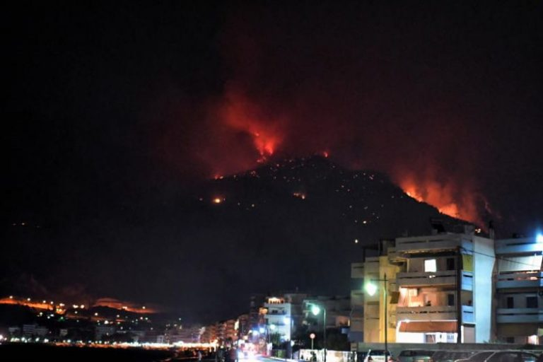 A forest fire on the Greek island of Zante forces hundreds of people to evacuate