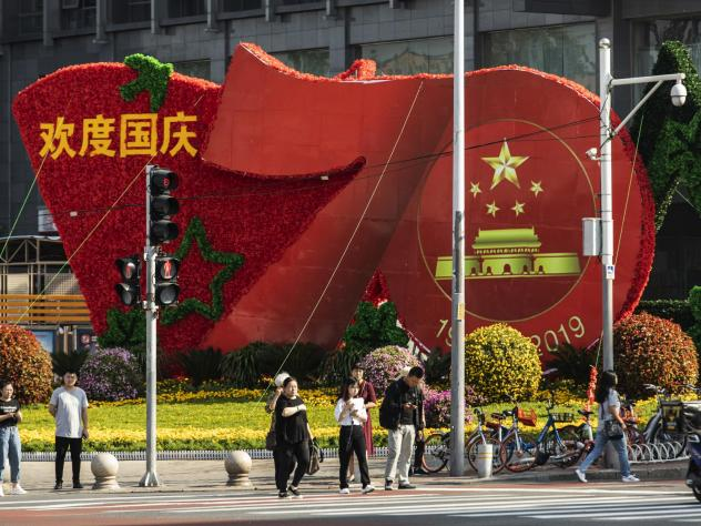 China celebrates its 70 years as a People's Republic with important political and economic challenges