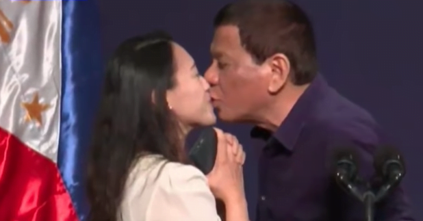 Critics Slam Rodrigo Duterte for Asking a Woman to Kiss Him Onstage