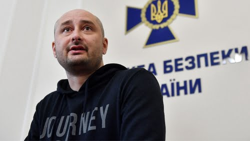 'Dead' Russian Journalist Appears at News Conference in Ukraine