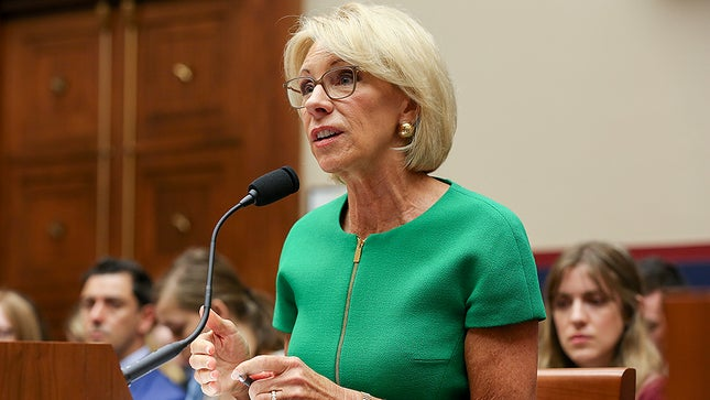 DeVos slammed for comments on undocumented students