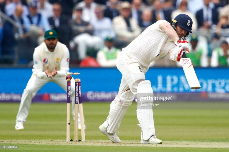 England v Pakistan: Mark Stoneman bowled for four by Mohammad Abbas
