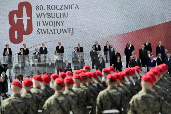 European leaders commemorate in Poland the 80th anniversary of the outbreak of World War II