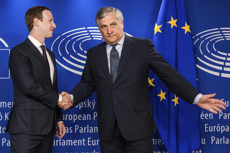 Facebook's Mark Zuckerberg Barraged With Questions by Europe Lawmakers