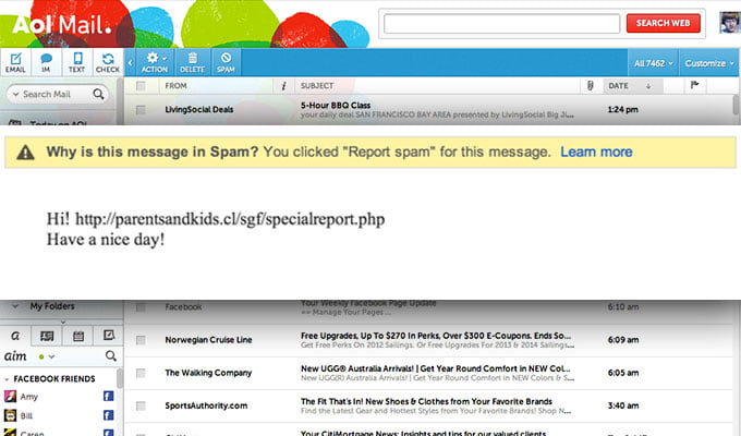 Hacked Web mail accounts used to send spam