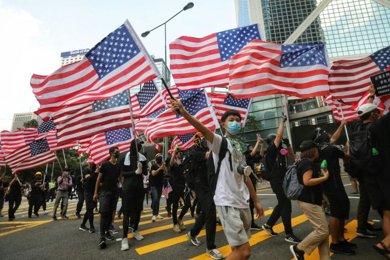 Hong Kong protesters carry their message of democracy to the U.S. consulate