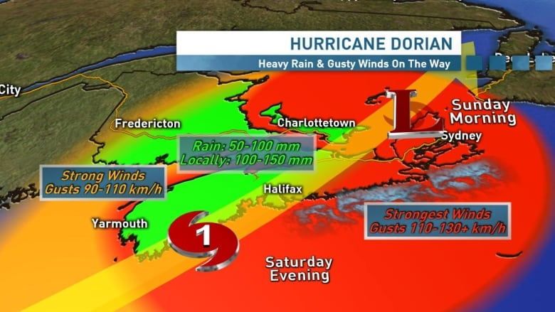 Hurricane 'Dorian' causes power outages and strong wind gusts in Nova Scotia