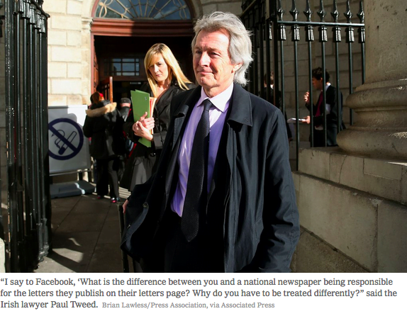 Is Facebook Different From The National Enquirer? An Irish Lawyer Thinks Not