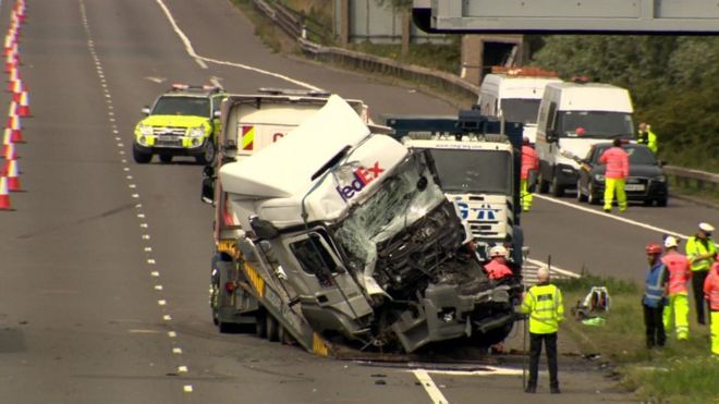 Lorry driver held after boy, 8, dies in crash