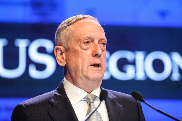 Mattis Accuses Beijing of 'Intimidation and Coercion' in South China Sea