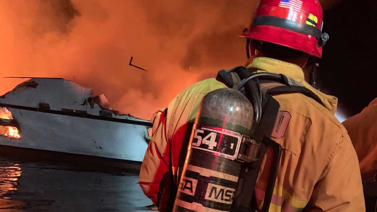 More than 30 missing from the fire of a ship off the southern coast of California