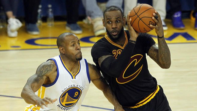 NBA finals: LeBron James's off the board dunk can't save Cleveland Cavaliers