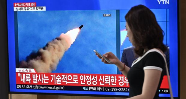 North Korea launches two unidentified projectiles to the east, according to South Korea