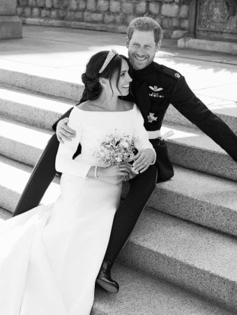 Royal wedding photographer on Meghan and Harry's 'beautiful moment'