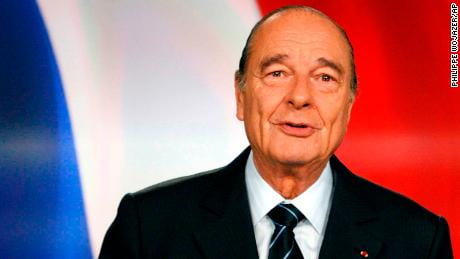 The former French president Jacques Chirac dies