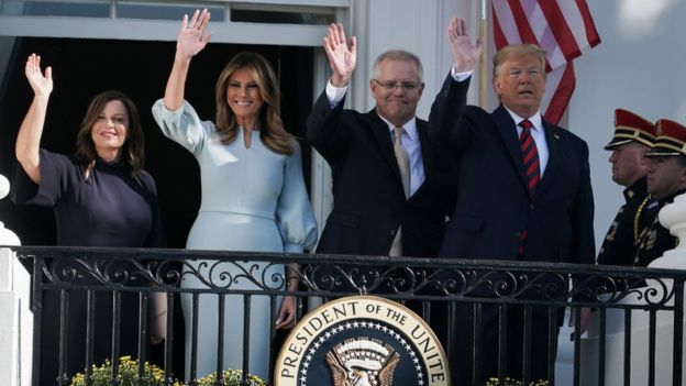 The prime minister of Australia promises loyalty to the US before his state visit