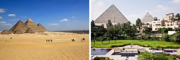 The Pyramids of Giza Are Near a Pizza Hut, and Other Sites That May Disappoint You