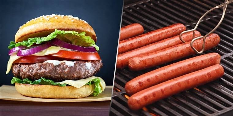 What's the better choice: A hot dog or hamburger?