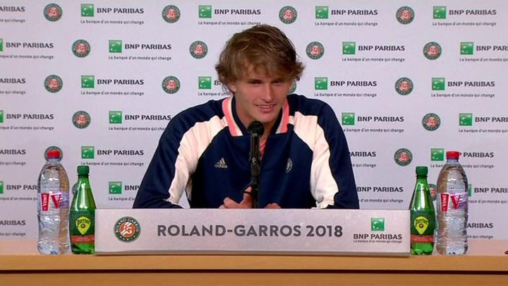 You're the only one who will make me smile, Zverev tells reporter