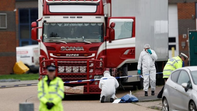 39 bodies found inside a truck in England