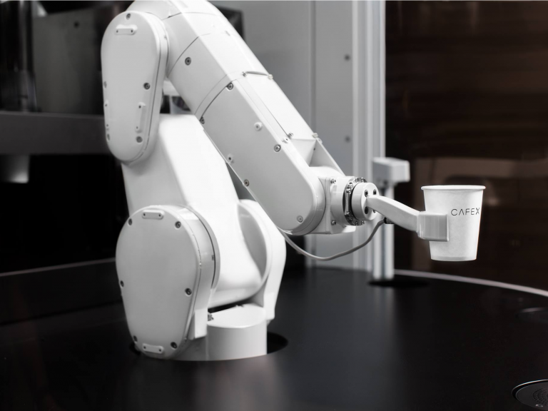 A robot barista that can make 120 cups of coffee in an hour