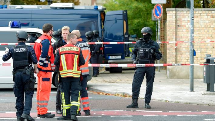 At least two killed in a shooting near a synagogue in eastern Germany