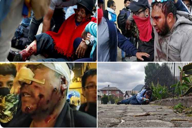 """Indigenous of Ecuador denounce the death of several protesters by the """"repression"""" of the Government"""