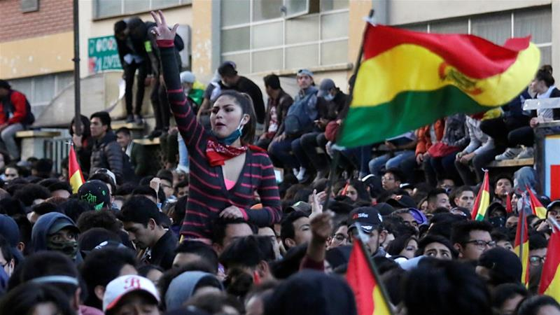 Protests, barricades and clashes in Bolivia after Morales's electoral victory