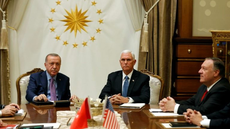 The US announces an agreement with Turkey for a ceasefire in its offensive against Kurdish forces in Syria