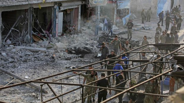 At least 15 civilians killed in an attack on a market in the Syrian town of Tel Abyad
