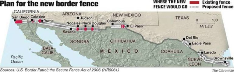 Congress OKs 700 miles of fence on border with Mexico