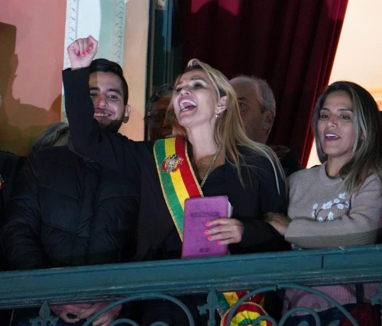 Opposition Senator Jeanine Añez assumes the Presidency of Bolivia following Morales's resignation