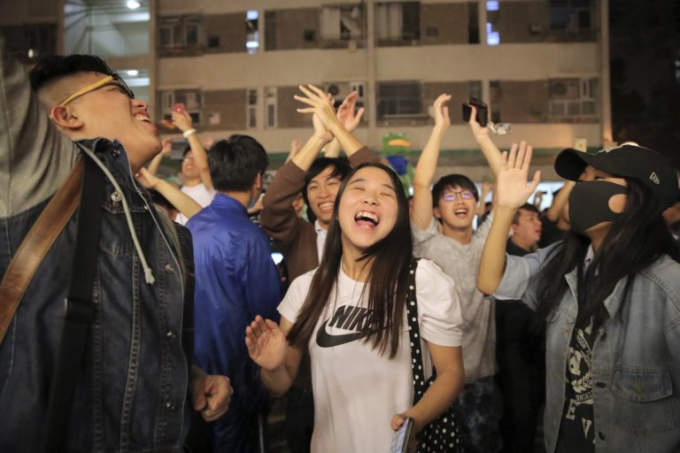 Pro-Democratic candidates say they have won the Hong Kong municipal elections