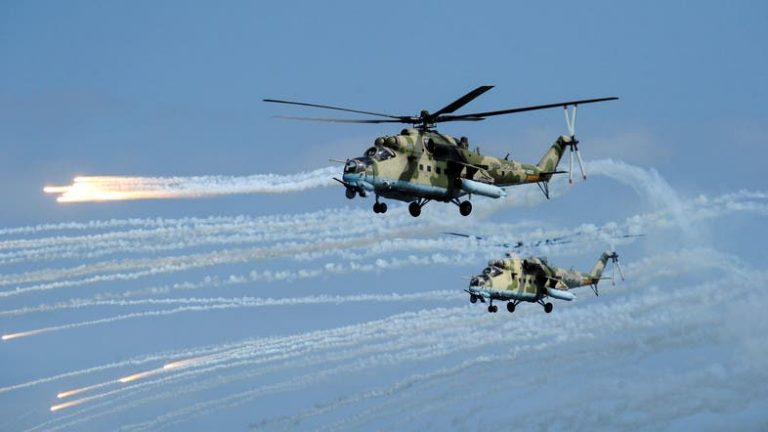 Russia deploys military helicopters in northern Syria to make patrols on the border with Turkey