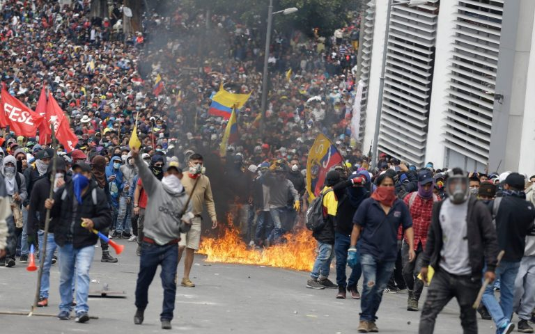 The National Assembly of Ecuador rejects the Government's economic reform project after the protests