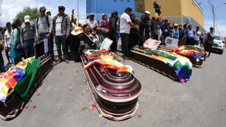 The Prosecutor's Office confirms that the nine protesters killed in Cochabamba died from gunshot wounds