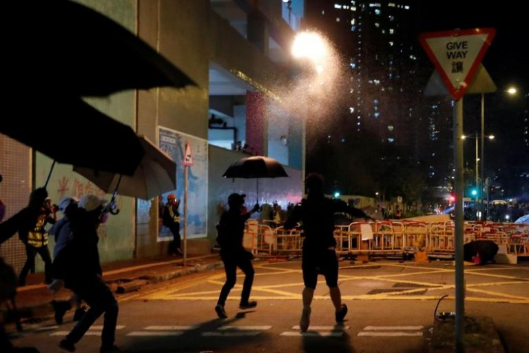The wake of a young man killed in the protests triggers a new night of violence in Hong Kong
